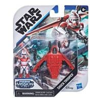 Star Wars Mission Fleet Gear Class Shock Trooper - Secure The City - Action Figure and Vehicle